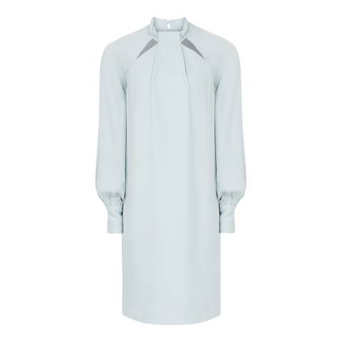 Reiss Pale Blue Anais Soft Shift Dress