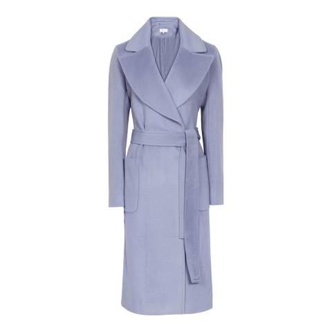 Reiss Light Blue Faris Wool Belted Coat
