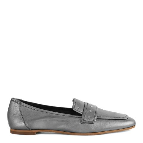 Reiss Pewter Metallic Elba Loafer