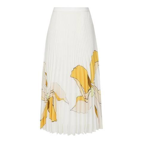 Reiss White/Multi Armelle Floral Skirt