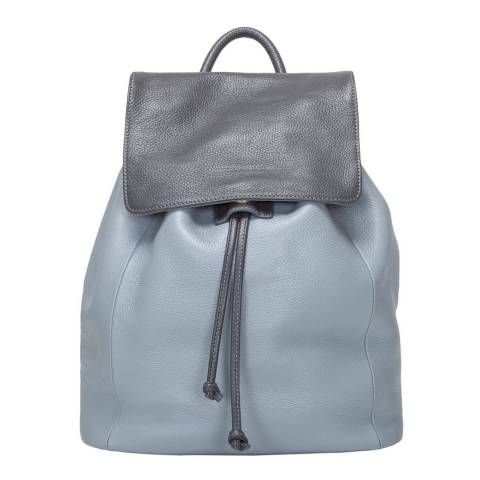 Smith & Canova Grey Two Tone Drawstring Backpack