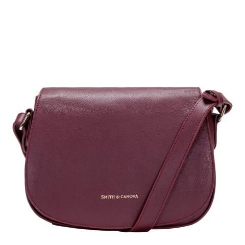 Smith & Canova Burgundy Flapover Saddle Bag