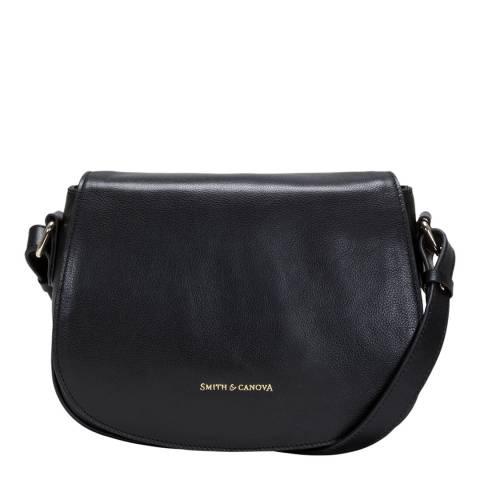 Smith & Canova Black Avie Saddle Crossbody Bag