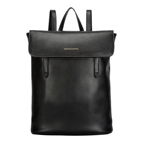 Smith & Canova Black Cambridge Smooth Backpack