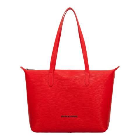 Smith & Canova Red Azala Leather Tote