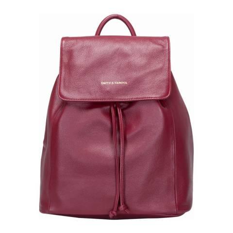 Smith & Canova Burgundy Drawstring Backpack