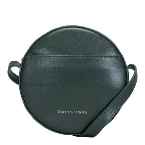 Smith & Canova Green Cambridge Round Crossbody Bag