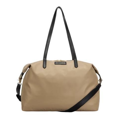 Smith & Canova Sand Large Nylon Zip Top Tote Bag