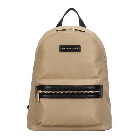 Smith & Canova Sand Nylon Zip Around Backpack