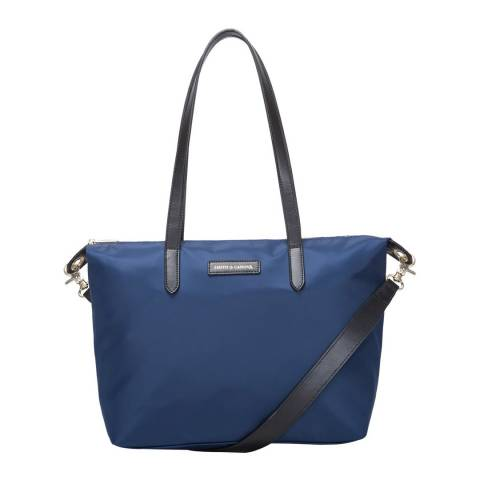 Smith & Canova Navy Nylon Zip Top Tote Bag