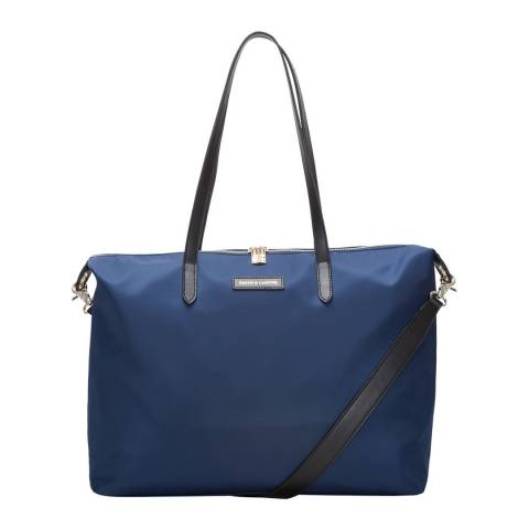 Smith & Canova Navy Large Nylon Zip Top Tote Bag
