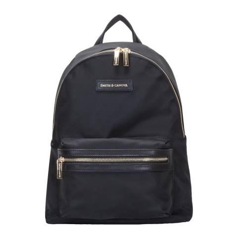 Smith & Canova Black Nylon Zip Around Backpack