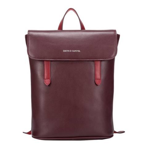 Smith & Canova Burgundy Miza XS Small Flap Over Backpack