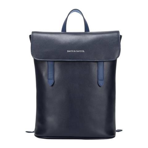 Smith & Canova Navy Blue Miza XS Small Flap Over Backpack