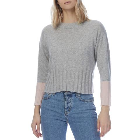Scott & Scott London Grey Cashmere Claudia Cuff Jumper