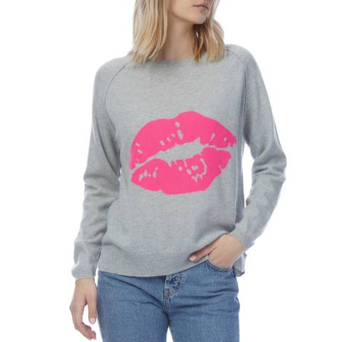 Scott & Scott London Grey Cashmere Kiss Jumper