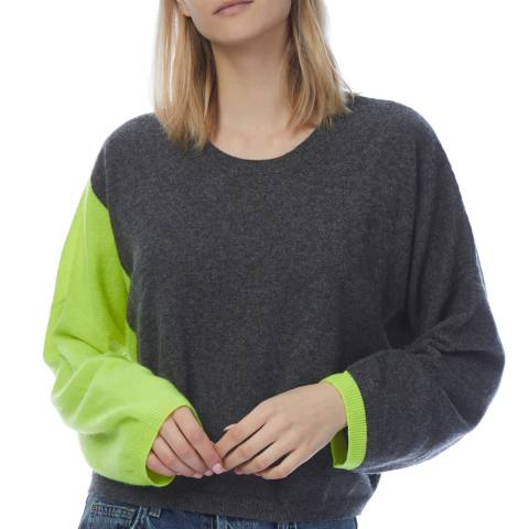 Scott & Scott London Grey/Neon Cashmere Miranda Jumper