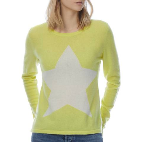 Scott & Scott London Yellow Cashmere Star Print Jumper