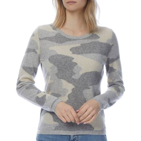 Scott & Scott London Grey Cashmere Slim Camo Jumper