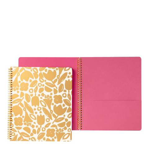 Kate Spade Large Spiral Notebook, Golden Floral