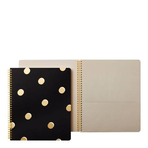 Kate Spade Large Spiral Notebook, Scatter Dots