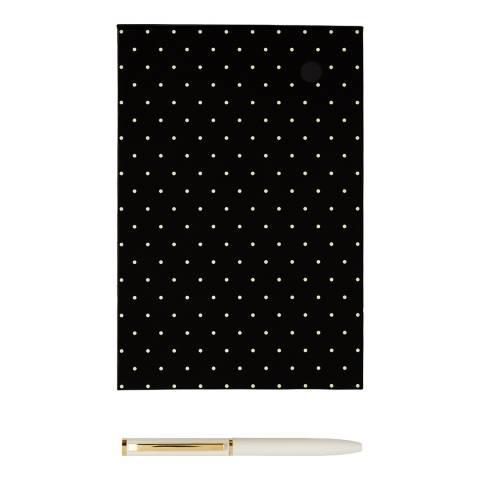 Kate Spade Loose Note Holder With Pen, Black Dot