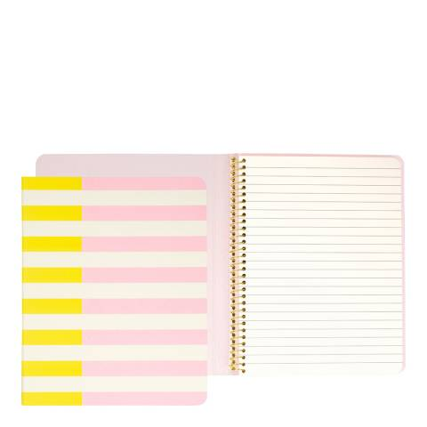 Kate Spade Concealed Spiral Notebook, Two-Tone Stripe