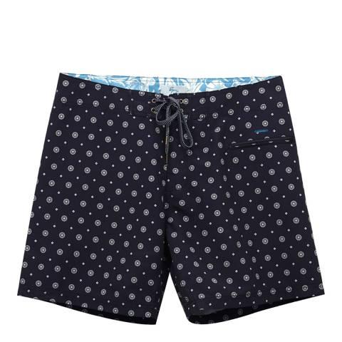 Riz Board Shorts Black Daisy Burgh Short