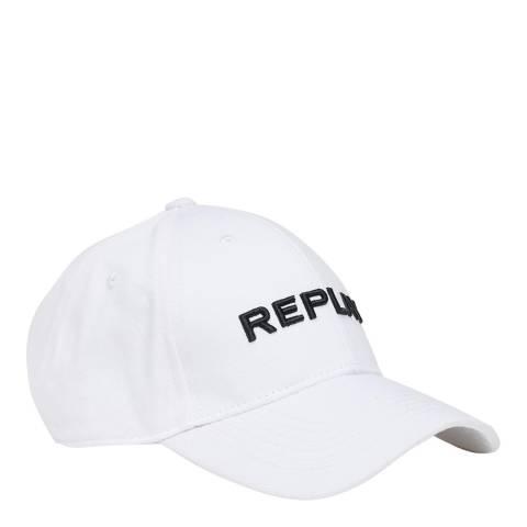 Replay White Logo Cap