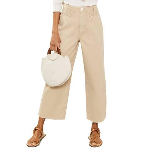 Mint Velvet Madison Neutral Raw Hem Jeans