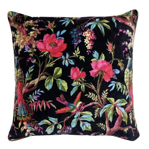 Paoletti Black Paradise Filled Cushion, 50x50cm