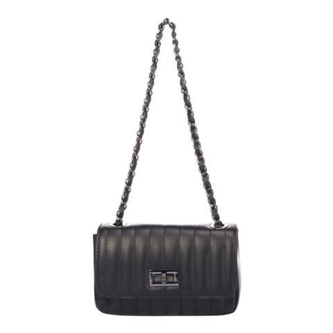 Markese Black Leather Crossbody Bag