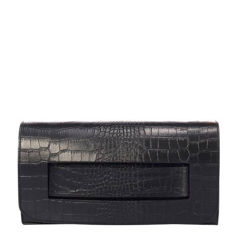 SCUI Studios Black Leather Clutch Bag