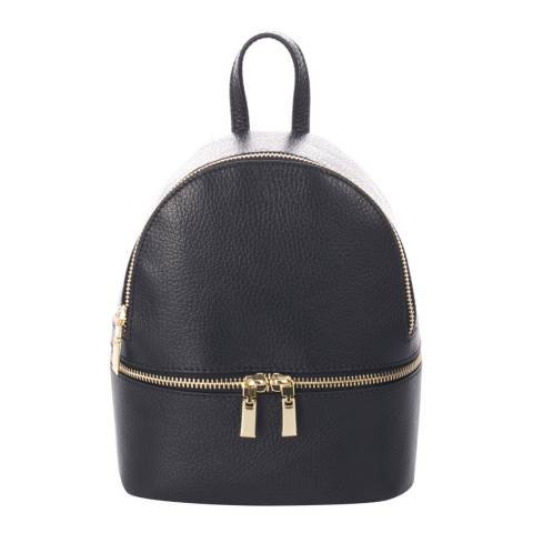 SCUI Studios Black Leather Backpack