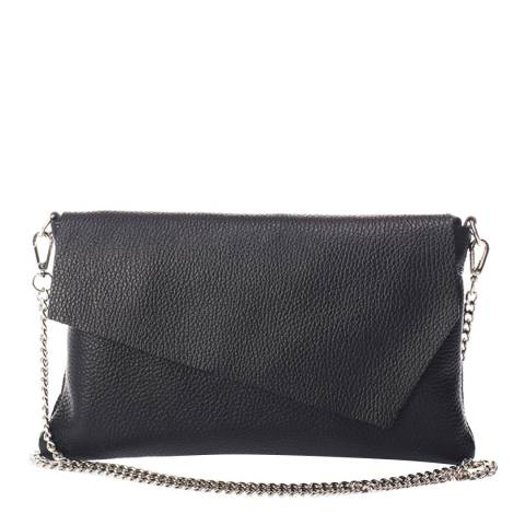 Giorgio Costa Black Leather Crossbody Bag