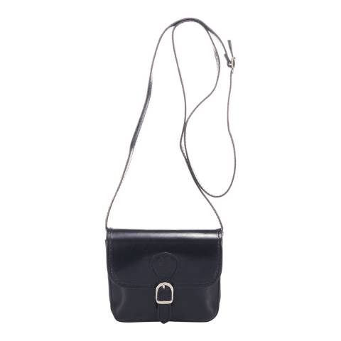 Massimo Castelli Black Leather Crossbody Bag