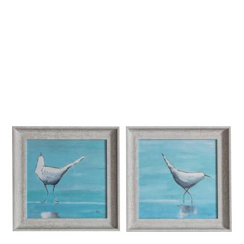 Gallery Curious Seagulls Framed Art Set of 2 38x38cm
