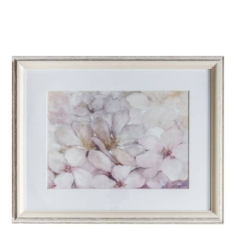 Gallery Dusky Blush Floral Framed Art 74x59cm