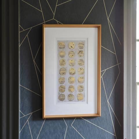 Gallery Metalic Fosil Study Framed Art 84x54cm