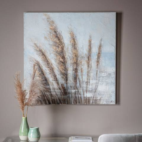 Gallery Pampas In The Wind Art Canvas 100x100cm