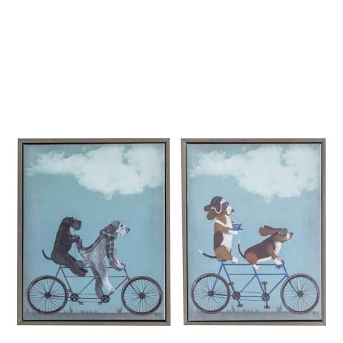 Gallery Tamden Hounds Framed Canvas Set of 2 27x34cm