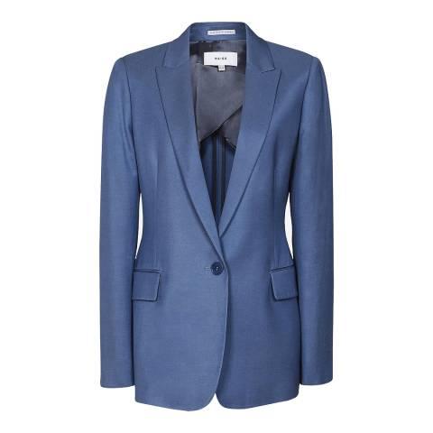 Reiss Marine Blue Etta Tailored Blazer