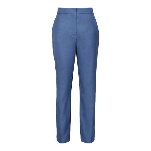 Reiss Marine Blue Etta Tailored Trousers