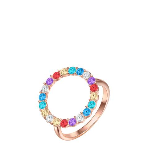 Glamcode Multi Coloured Ring with Swarovski Crystals