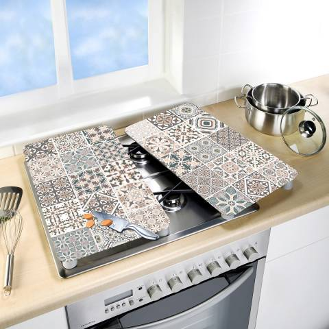 Wenko Set of 2 Universal Floor Tile Glass Covers
