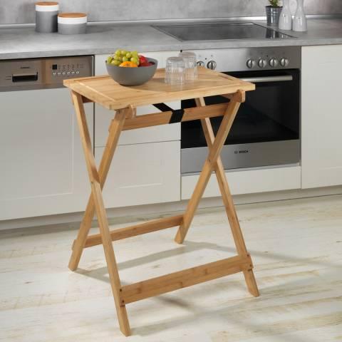Wenko Folding Table with Cutting Board Lugo