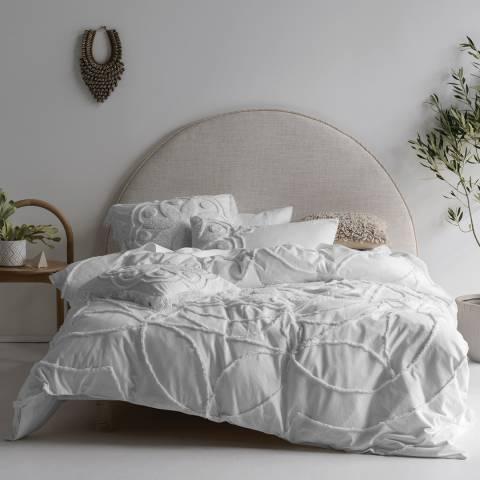 Linen House Manisha Super King Duvet Cover Set, White