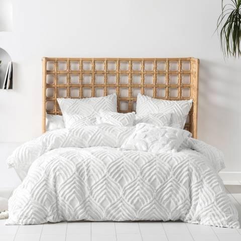 Linen House Palm Springs Super King Duvet Cover Set, White