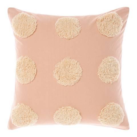 Linen House Haze 45x45 Feather Cushion, Pink