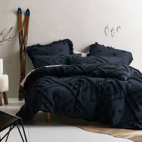 Linen House Adalyn Double Duvet Cover Set, Indigo